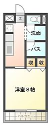 タカヤハイツC[1階]の間取り