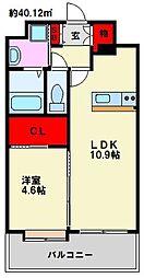 LIBTH高宮[11階]の間取り