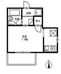 Camus FUNABASHI[6階]の間取り