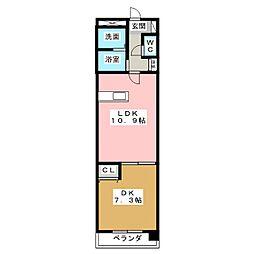 アドバンス1[2階]の間取り