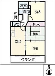 アビタシオン大平[1階]の間取り