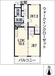 タウン・コート[2階]の間取り