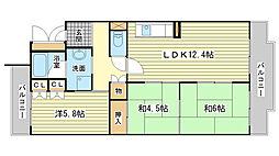 サニーハイツ嵐山[306号室]の間取り