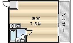 ラシーヌ三明町[602号室]の間取り
