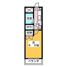 安田学研会館 東棟[1階]の間取り