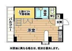 福岡県北九州市八幡西区本城東3丁目の賃貸マンションの間取り
