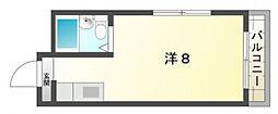大阪府守口市日向町の賃貸マンションの間取り