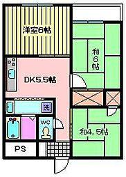 埼玉県さいたま市南区大谷場2丁目の賃貸マンションの間取り