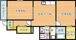 エテルノハピネス B棟[1階]の間取り