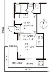 大倉荘[1階号室]の間取り