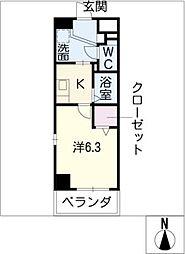 レーベン新城[3階]の間取り