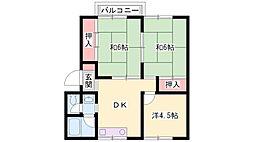 新野辺マンション[102号室]の間取り