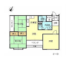 下加茂ハウス[2-D号室]の間取り