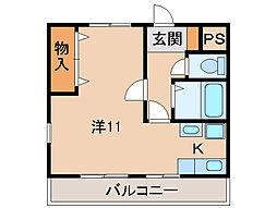 不二家ビル[2階]の間取り