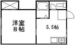 新潟県新潟市西区五十嵐3の町東の賃貸アパートの間取り