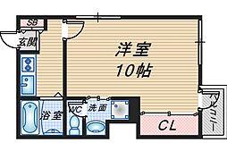 ベルエアー桜塚[208号室]の間取り