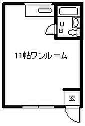 SAKURA館[201号室]の間取り