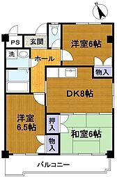 美サイレントマンション2[3階]の間取り