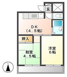 山の手荘[3階]の間取り