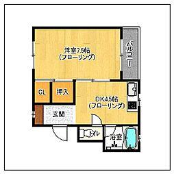 竹内ハウス[3階]の間取り