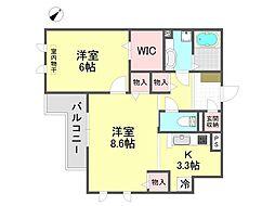 MINT甲子園五番町[3階]の間取り