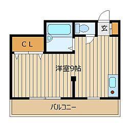 スプリングマンション[2階]の間取り