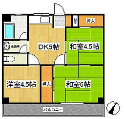 第16上野ビル[5階]の間取り