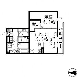 セントラルコート高井田[303号室号室]の間取り