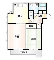 サンハイム丸和 3階3DKの間取り