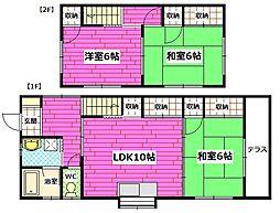 [一戸建] 広島県広島市安芸区船越3丁目 の賃貸【/】の間取り