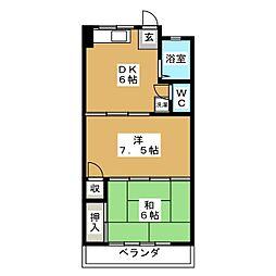 SKY WIND III[2階]の間取り