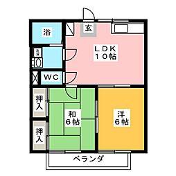 プチアリス A棟[2階]の間取り