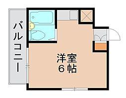 エスポワール箱崎[6階]の間取り
