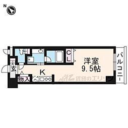 阪急京都本線 南茨木駅 徒歩1分の賃貸マンション 1階ワンルームの間取り