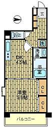 エストリーヴル2[4階]の間取り