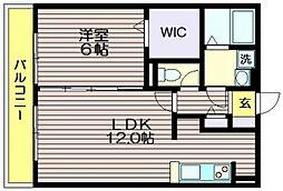 オーチャードコート[3階]の間取り