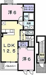 モーメントス フェリセス16[2階]の間取り