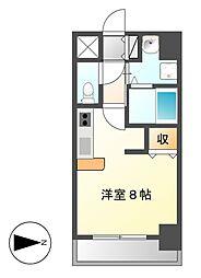 グランルージュ栄II[4階]の間取り