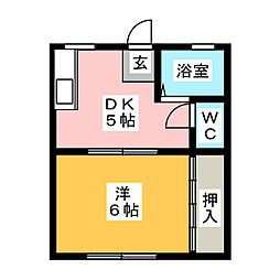 プチコートサカエ[1階]の間取り