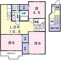 シーベルハイツA[2階]の間取り