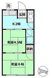 内田レジデンス[1階]の間取り