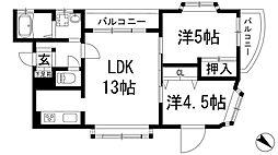 グローバル伊丹[3階]の間取り