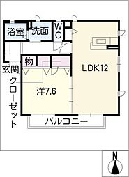 プレミール113[1階]の間取り