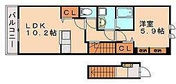 ヴィオラ[2階]の間取り