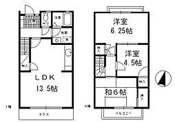 [テラスハウス] 神奈川県横浜市都筑区早渕3丁目 の賃貸【/】の間取り