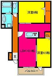 d−room横小路[103号室]の間取り
