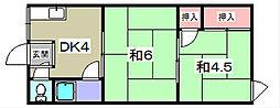 マンション桜[104号室]の間取り