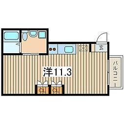 ベルテ36[2階]の間取り