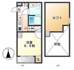 コーチ上飯田[2階]の間取り