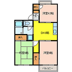 シティーハイツプロスパー[2階]の間取り